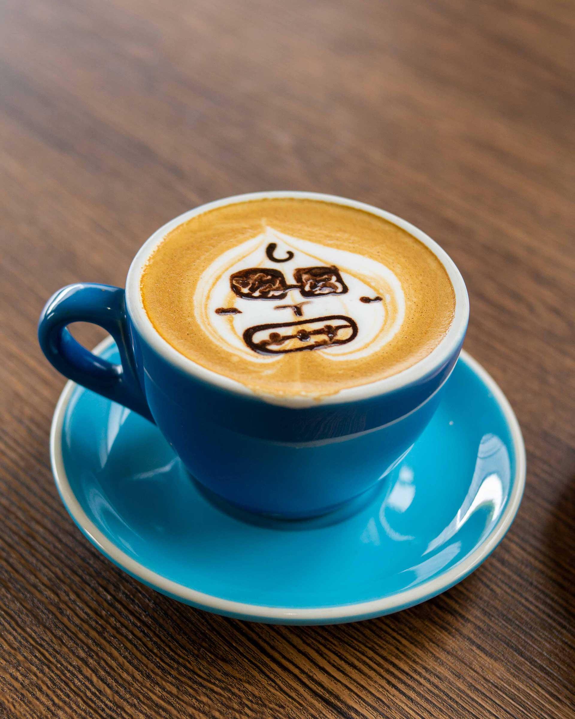Hot Cafe Latte close up shot