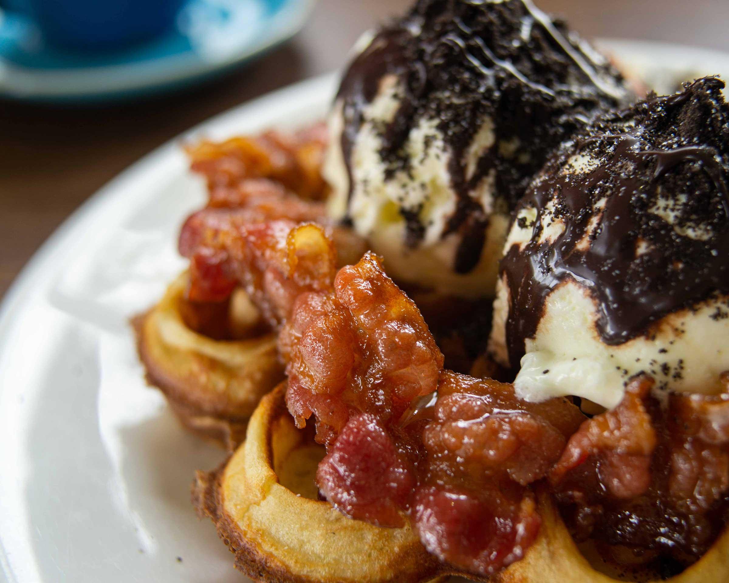 Caramel Bacon Waffle