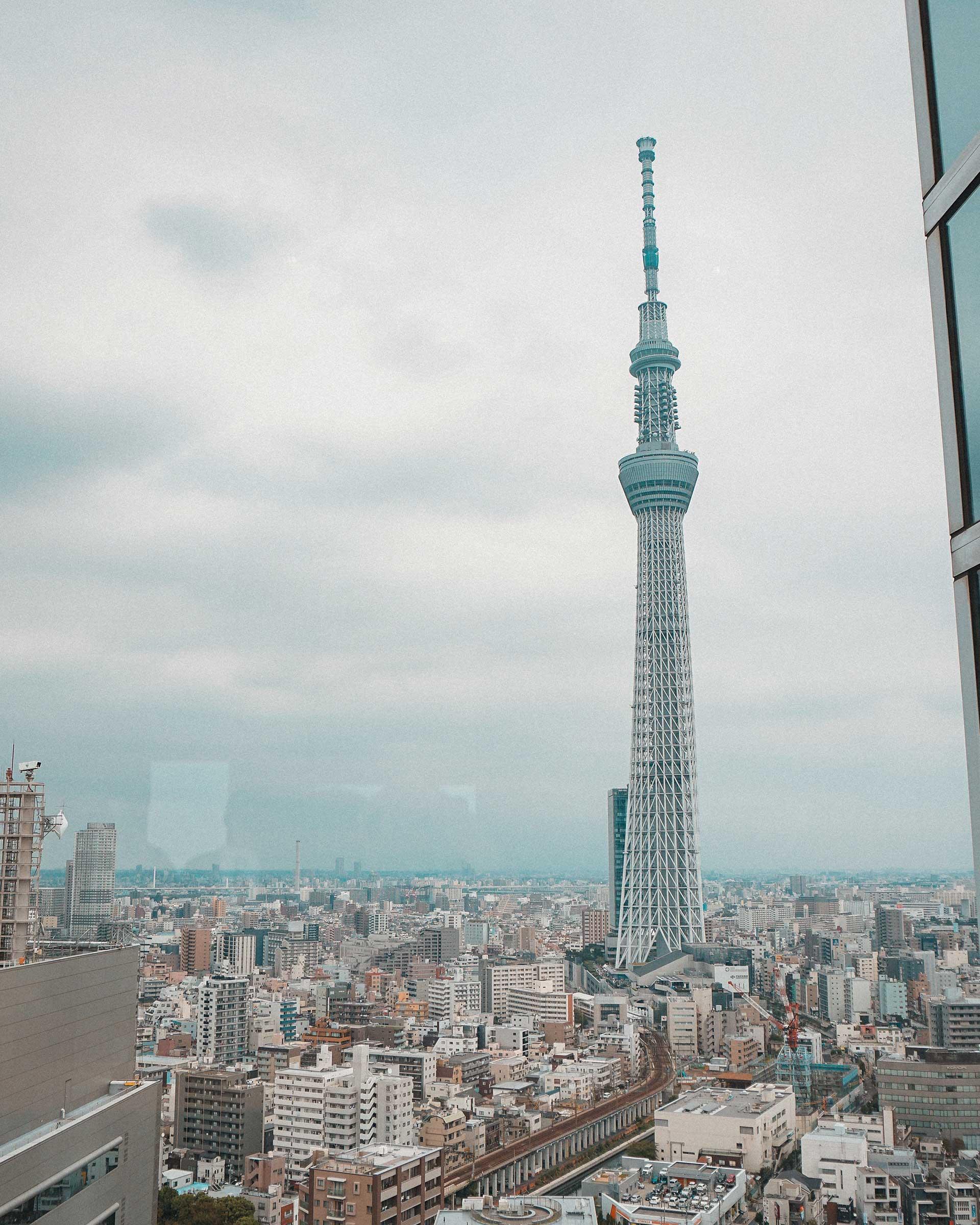 Tokyo Skytree (東京スカイツリー) view from Asahi Sky Room