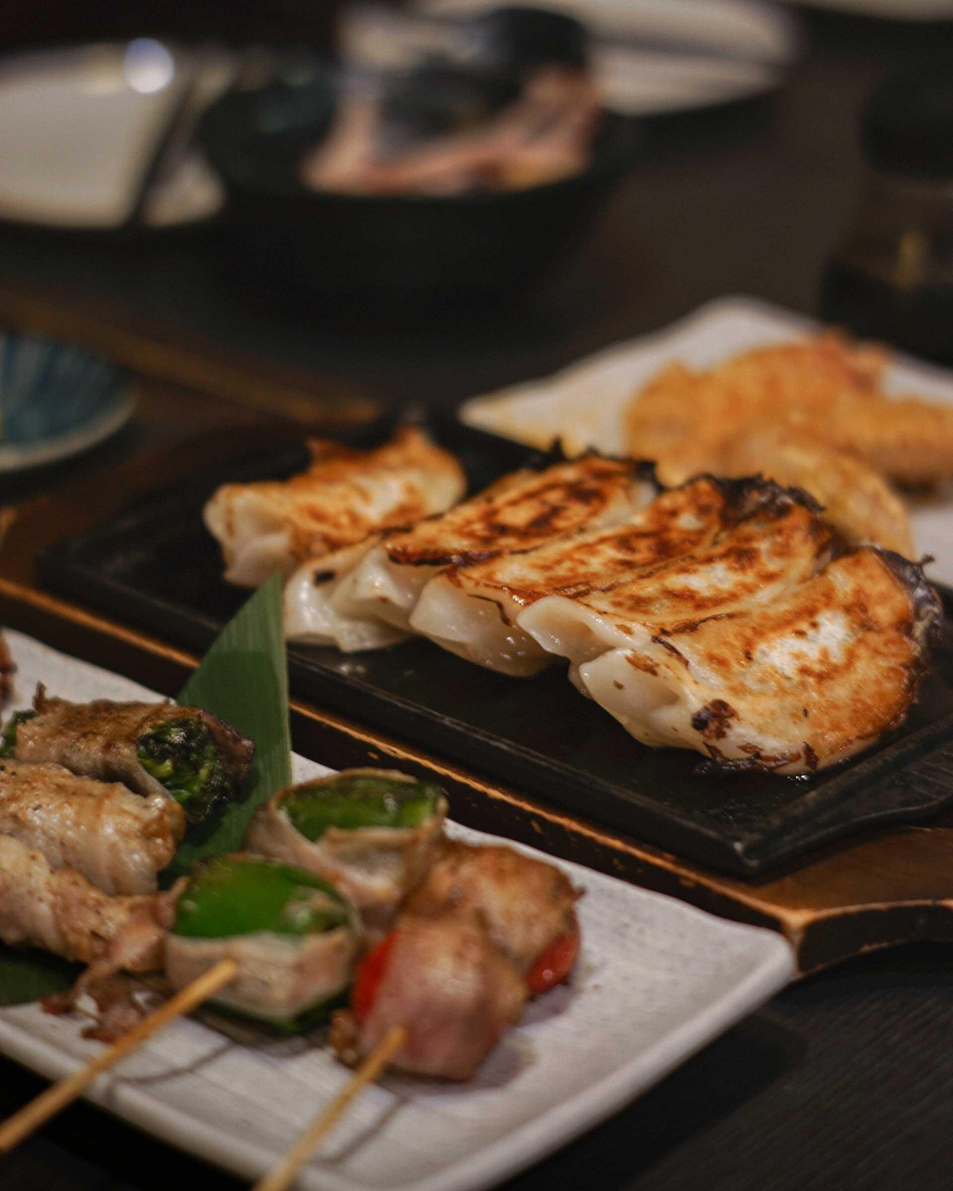 Grilled skewers we ordered in the izakaya