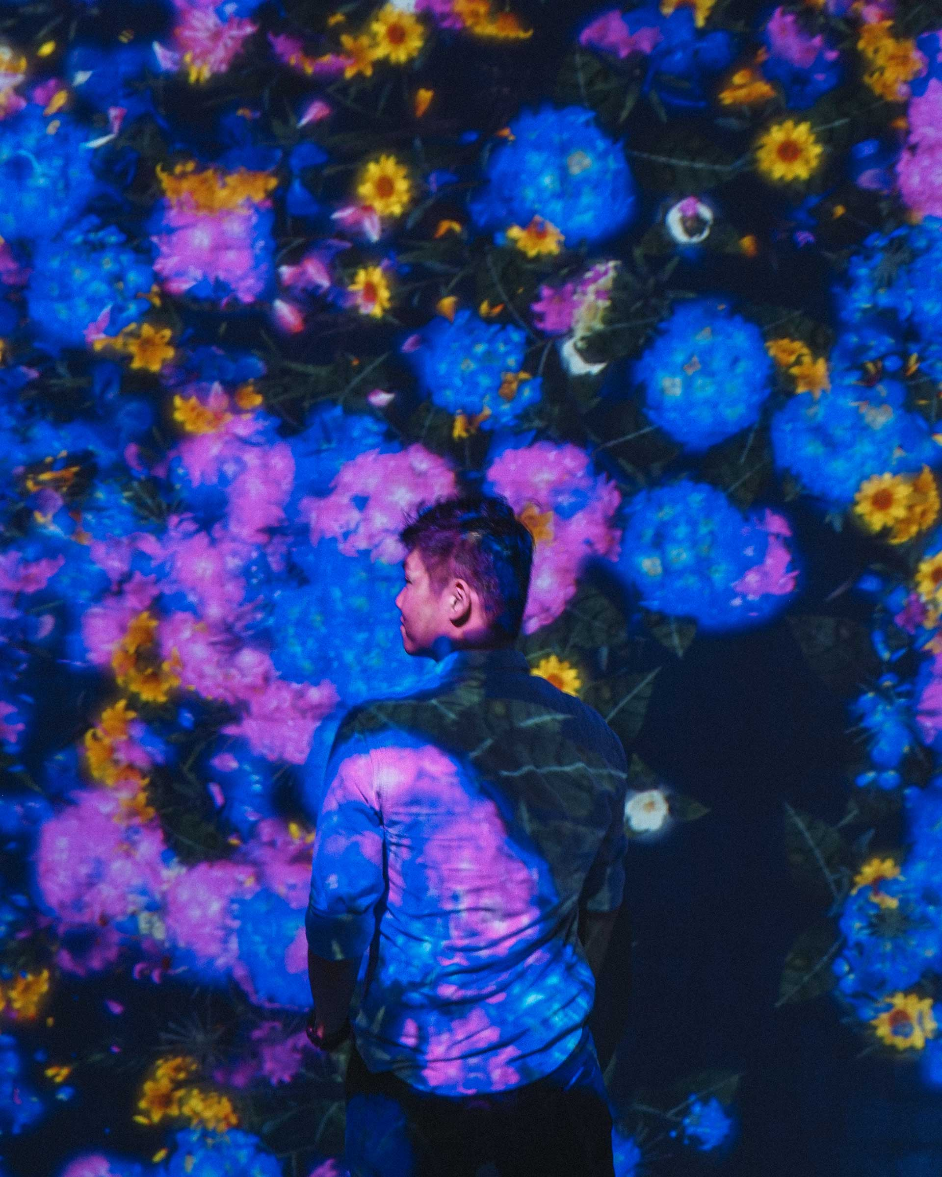Scud in Forest of Flowers and People at teamLab Borderless, Tokyo