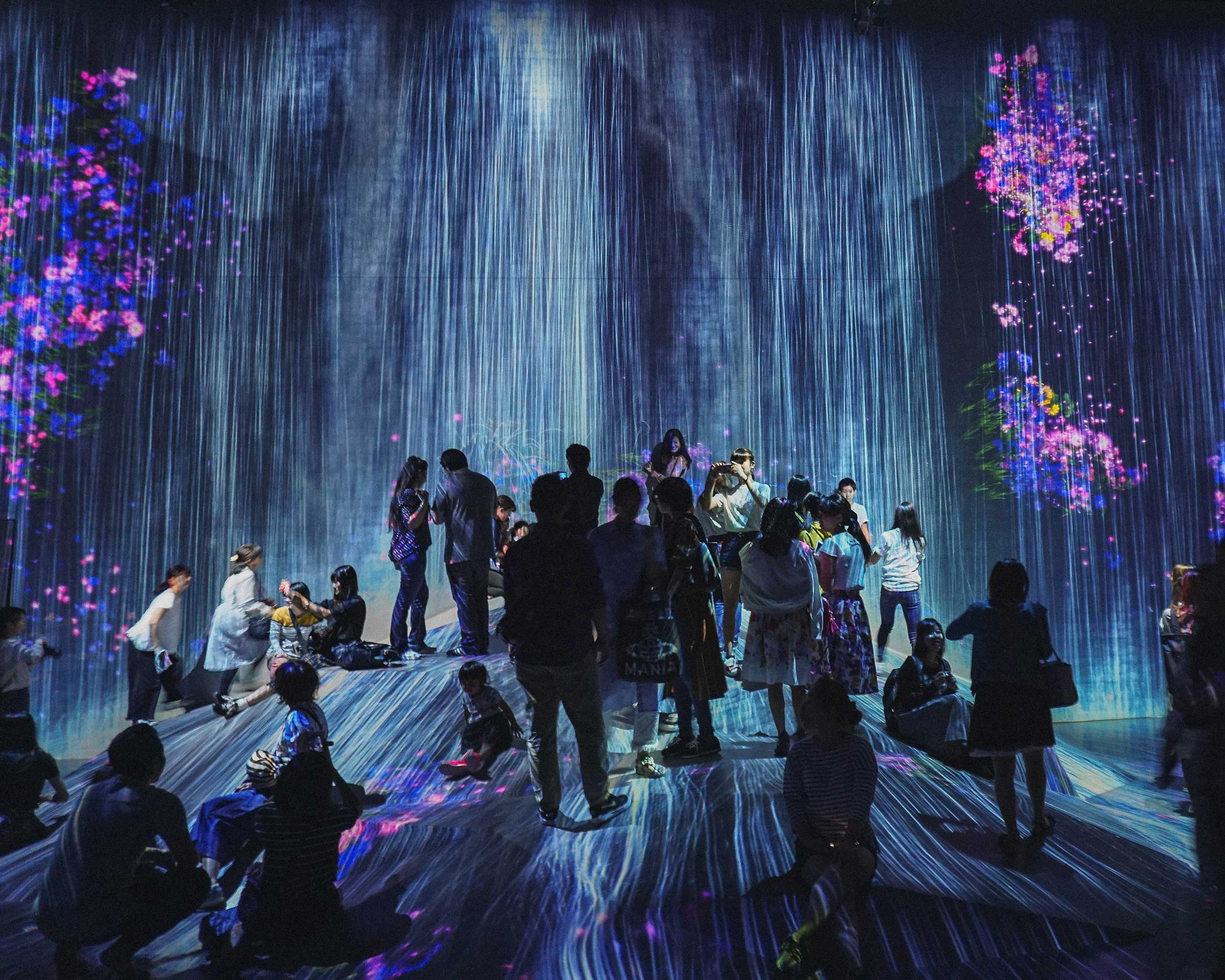 Rock where People Gather at teamLab Borderless, Tokyo